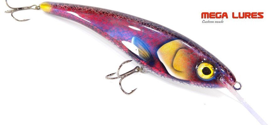 Mega lures custom made : Made for men not for boys !